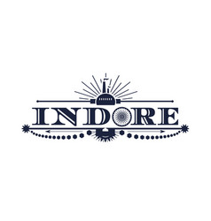 Indore city name vector