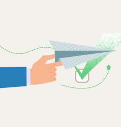 Informational banner approval information flat vector