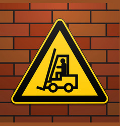 International safety warning sign carefully lift vector