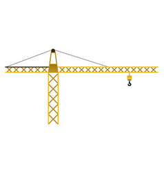 isolated construction crane vector image