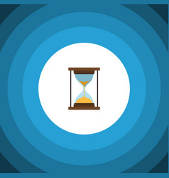 Isolated minute measuring flat icon instrument vector