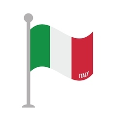 Italy patriotic flag isolated icon vector