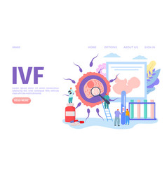 Ivf medical fertility concept webpage vector