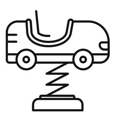 kid car spring icon outline style vector image