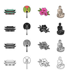 korea country tourism and other web icon in vector image