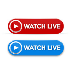 live stream sign with wave emblem logo badge vector image