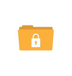 locked folder icon design template isolated vector image