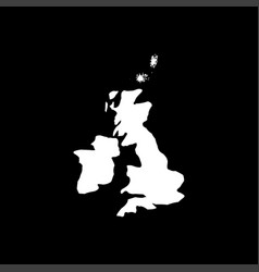 Map of united kingdom white color icon vector