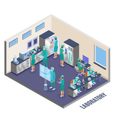 Microbiology isometric composition vector
