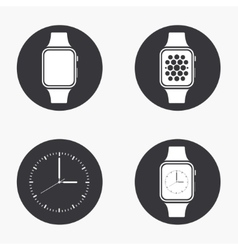 modern smartwatch icons set vector image