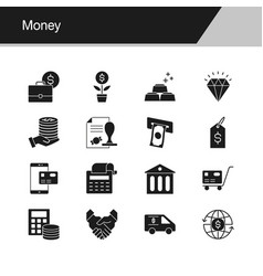 Money icons design for presentation graphic vector