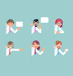 office workers cartoon support help business vector image