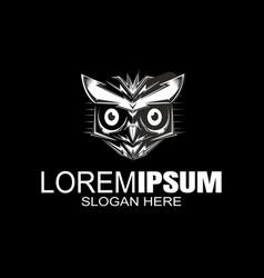 owl logo design night hunter logo bird logod vector image