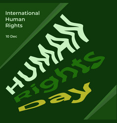 Poster human rights day international human vector