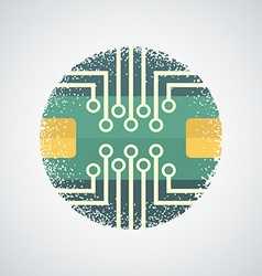Printed Circuit Board Icon vector