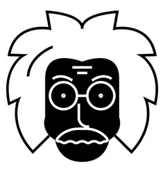 Professor scientist icon vector