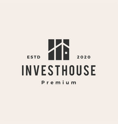 property investment house hipster vintage logo vector image