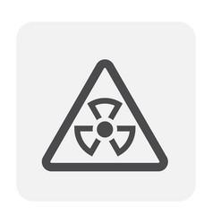 Radiation icon black vector