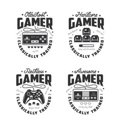 Retro video games related t-shirt design vector