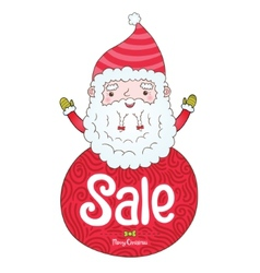 Santa Claus and Christmas sale badge vector image