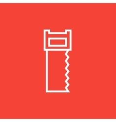 Saw line icon vector image