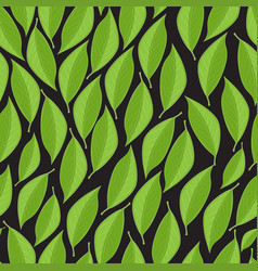 Seamless texture with lgreen eaves on a vector