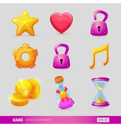 Set with game design elements vector