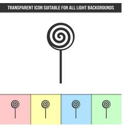 Simple outline transparent lollipop icon vector
