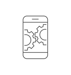 smartphone with gears vector image