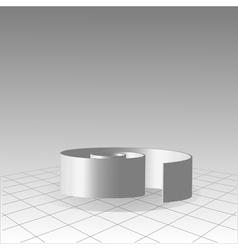 Spiral labyrinth concept vector