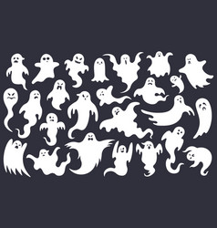 spooky halloween ghost scary ghost characters vector image
