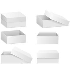 Square flat boxes isolated on white vector