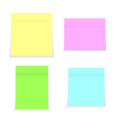 sticky notes realistic square paper vector image