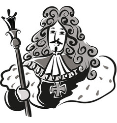 Sun king louis xiv king of france vector