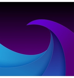 Swirly purple and blue paper waves background vector