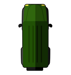 top view of a car vector image