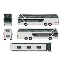 Travel bus template vector