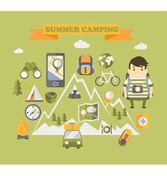 Travelling and Holiday concept vector