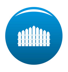 Triangular fence icon blue vector