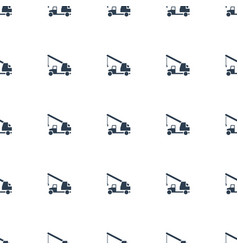 truck with hook icon pattern seamless white vector image