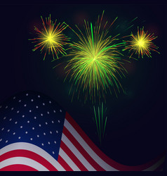 united states flag and celebration 4th of july vector image