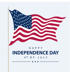 united states independence day greeting card with vector image