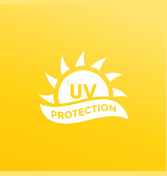 Uv protection icon ultraviolet light vector