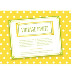 Vintage invite landscape vector