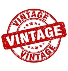 Vintage red grunge round vintage rubber stamp vector