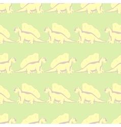 walk funny dinosaurs vector image