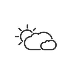 Weather icon the sun in the clouds vector