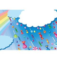 candy rain card vector image