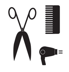 hairstyle icon on white background barber sign vector image