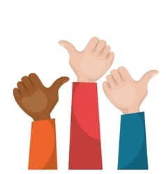 Hand like multicultural teamwork vector